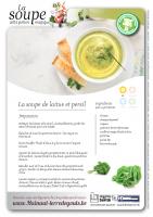 La soupe de laitue et persil