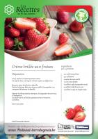 Crème brulée aux fraises